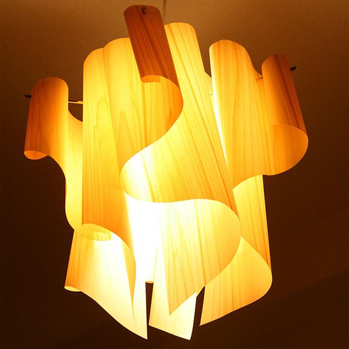『DI CLASSE (ディクラッセ)アウロ-wood Mサイズ』 間接照明 ペンダントライト 照明器具 インテリアライト 天井照明 照明 ライト LP2049WO インテリア 家具 リビング 明かり 光源 ランプ 蛍光灯 吊り下げ ぶら下げ ワイヤー