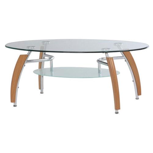 『オーバル ガラステーブル』 ソファテーブル ローテーブル コーヒーテーブル センターテーブル リビングテーブル おしゃれ オシャレ シンプル モダン ミッドセンチュリー ナチュラル 黒 ブラック ガラス天板 リビング 強化ガラス 楕円 一人暮らし