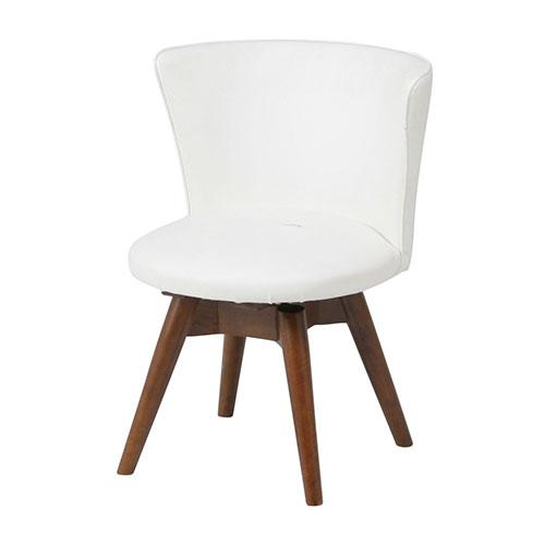 『回転ダイニングチェアー』 回転椅子 ダイニングチェア 回転イス 回転チェア ダイニングチェアー チェア 椅子 イス 食卓椅子 おしゃれ オシャレ シンプル 木製 天然木 回転 白 ホワイト 黒 レザー調 ブラック 合成皮革 背もたれ ゆったり