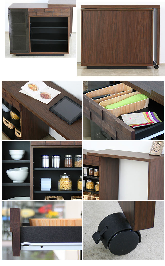 Kitchen Desk Counter Storage Living Work Units Cooking Extendable Table Telescopic