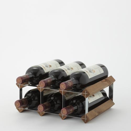 『イングランド製 ワインラック 6本用』 ワインボトル収納 ワインボトルラック ワイン収納 ウッドラック ワインボックス 木 木製 天然木 ディスプレイ オーク材 2段 イギリス製 おしゃれ 保存 保管