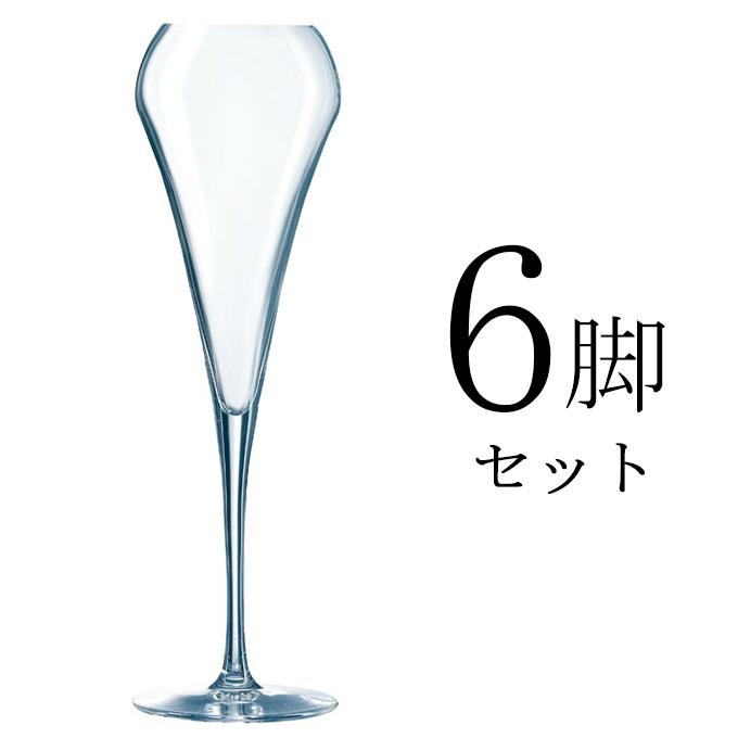 『オープンナップ エフェウ゛ァセント20 6個セット』 シャンパングラスセット シャンパングラス クリスタルグラス バーアイテム バー用品 バーツール 業務用グラス スパークリングワイングラス スパークリングワイン シャンパン 店舗用 レストラン用 業務用