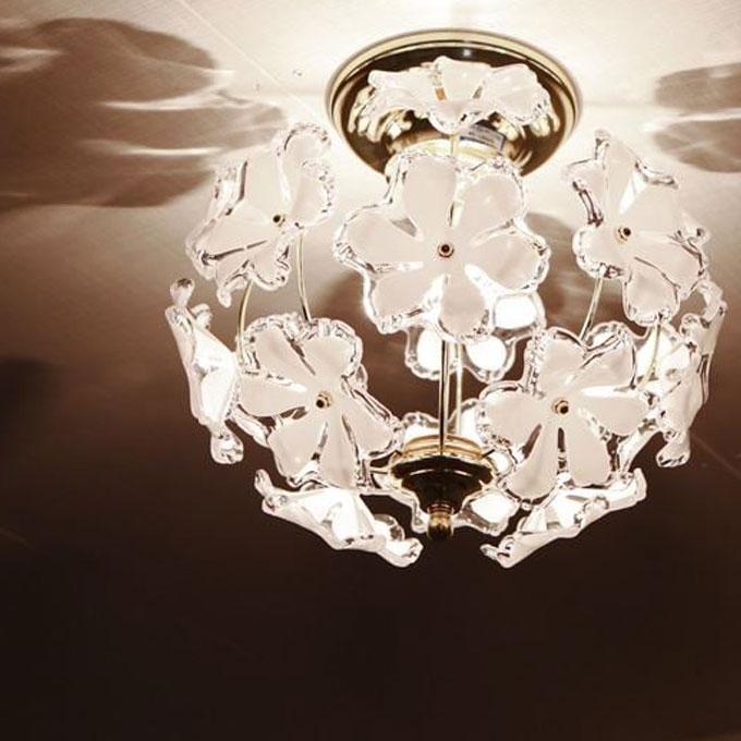 『シーリングライト』 インテリアライト シーリングランプ 天井照明 照明器具 間接照明 デザイン照明 1灯 室内用 おしゃれ 可愛い かわいい 北欧 花模様 花柄 玄関 姫系 階段 廊下 トイレ