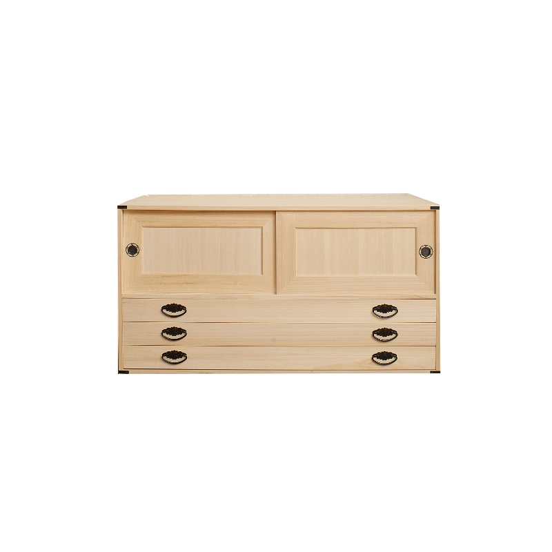 Organize Closet Paulownia Chest Of Drawers Sliding Door Leader 3 Tablespoons Width 99 Cm Height 53 Tung Anese