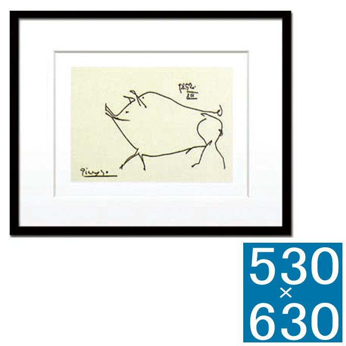 『アートフレーム Pablo Picasso Le petit cochon』 フレーム アートフレーム 壁飾り 額縁 壁掛けインテリア 壁掛けアート インテリアフレーム 絵画 版画 シルクスクリーン Pablo Picasso Le petit cochon おしゃれ 可愛い かわいい 北欧 横型 モダン