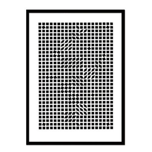 『アートフレーム Victor Vasarely Tinko,1955(Silk screen)』 フレーム アートフレーム 壁飾り 額縁 壁掛けインテリア 壁掛けアート ディスプレイフレーム インテリアフレーム 版画 絵画 シルクスクリーン Victor Vasarely Tinko