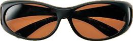 偏光サングラス メガネの上から オーバーグラス Sサイズ CK7165Nブラウン偏光 ブラウンデミ
