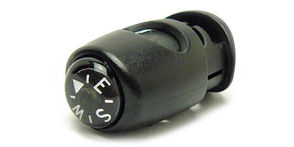 方位磁石 お得セット コンパス 送料0円 オイル式 ウエアやジャケットのコードに付けておける最小 メール便配送可能 コードロック クリアー光学 日本製 G-10 方位磁針