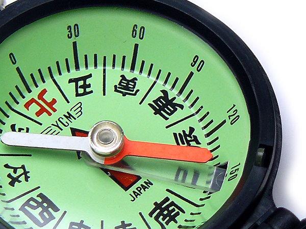 コンパス 方位磁石 方位磁針 G-453 和文字表示 日本製 クリアー光学