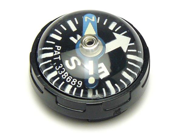 コンパス 方位磁石 方位磁針 時計バンドにつける G-50 日本製 クリアー光学