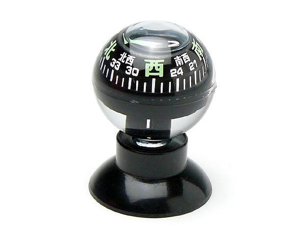 コンパス 方位磁石 方位磁針 吸盤付 G-880S 日本製 クリアー光学