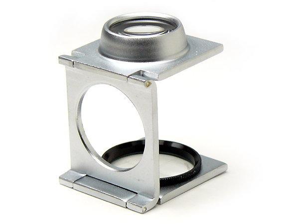 スケールルーペ 8倍 目盛0.1mm P-8N 日本製 クリアー光学