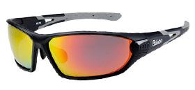 偏光サングラス 釣り 偏光度99% メガネケース付 RC-1A マットブラック/グレー レッドREVOミラー偏光