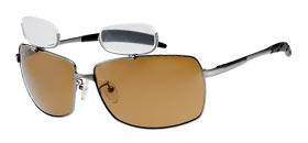 偏光サングラス 老眼鏡付 男性用 女性用 おしゃれ BFL-2Bブラウン ガンメタ