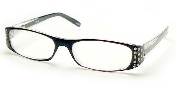 老眼鏡 おしゃれ 強度数 +4.5 +5.0 +6.0 メガネケース付 CKRP135強度 ブラック