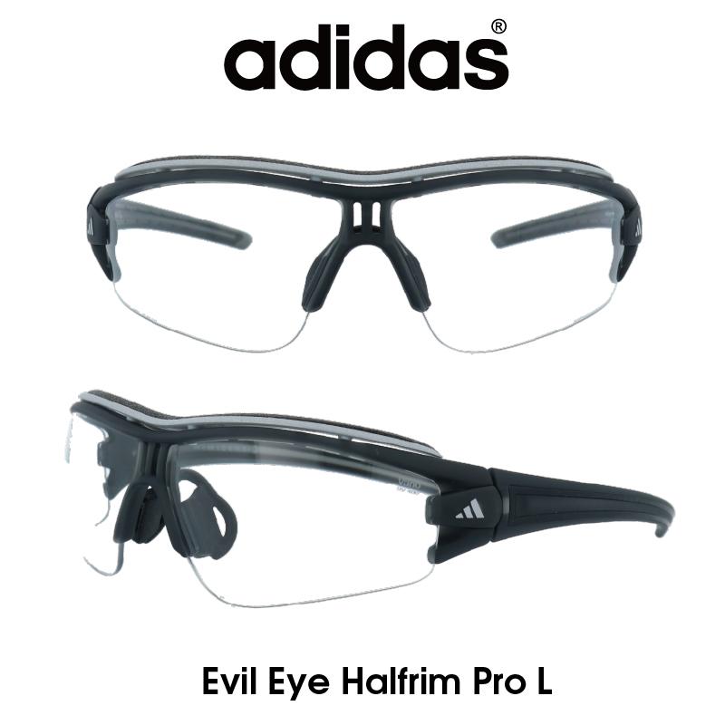 Adidas (アディダス) サングラス Evil Eye Halfrim Pro L イーブルアイ ハーフリムプロ A181-01-6095 クリア/グレー(調光レンズ) レンズ 人気モデル UVカット アウトドア ドライブ スポーツ