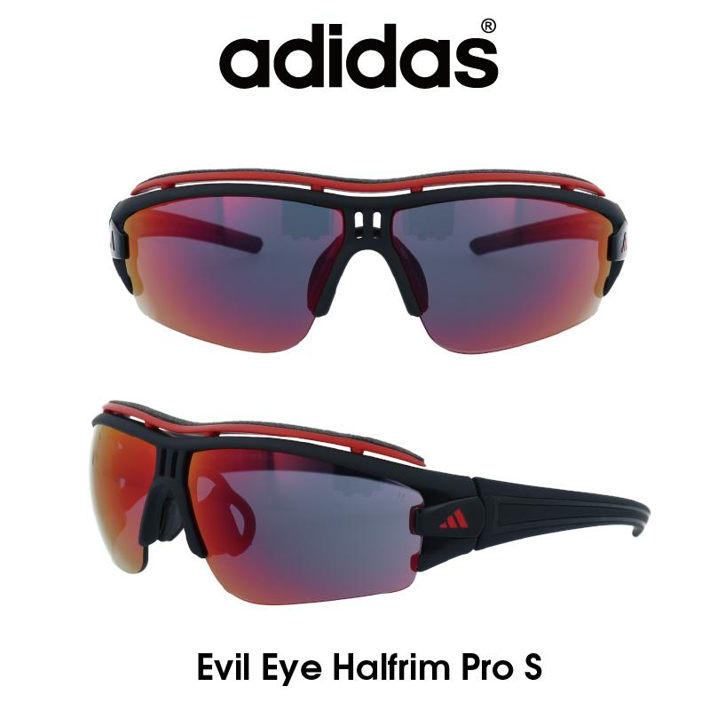 Adidas (アディダス) サングラス Evil Eye Halfrim Pro S イーブルアイ ハーフリムプロ A198-01-6088 グレー/レッドミラー レンズ 人気モデル UVカット アウトドア ドライブ スポーツ