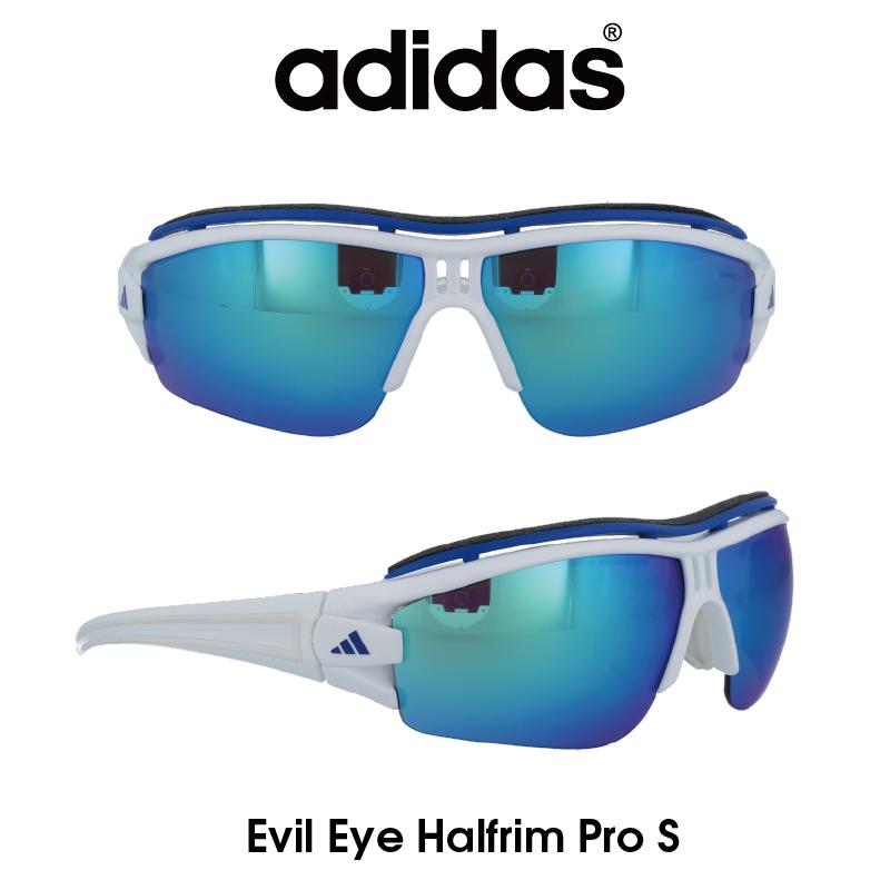 Adidas (アディダス) サングラス Evil Eye Halfrim Pro S イーブルアイ ハーフリムプロ A198-01-6089 グレー/ブルーミラー レンズ 人気モデル UVカット アウトドア ドライブ スポーツ