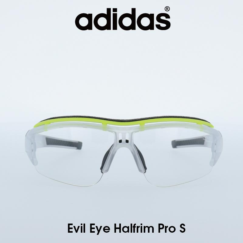 Adidas (アディダス) サングラス Evil Eye Halfrim Pro S イーブルアイ ハーフリムプロ AD07-75-1101-S クリア/Vario(調光レンズ) レンズ 人気モデル UVカット アウトドア ドライブ スポーツ
