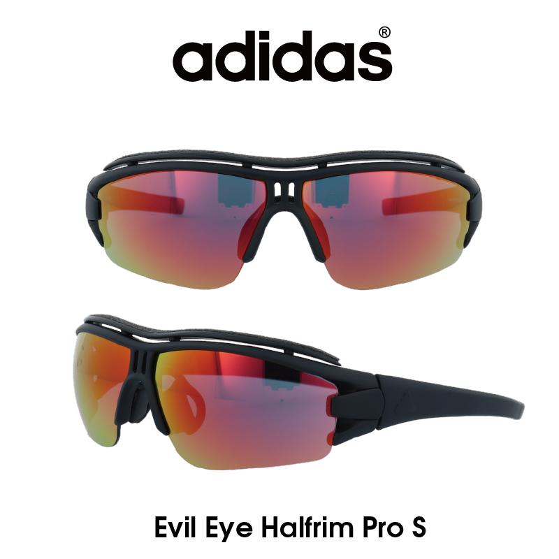 Adidas (アディダス) サングラス Evil Eye Halfrim Pro S イーブルアイ ハーフリムプロ AD07-75-9201-S グレー/レッドミラー レンズ 人気モデル UVカット アウトドア ドライブ スポーツ