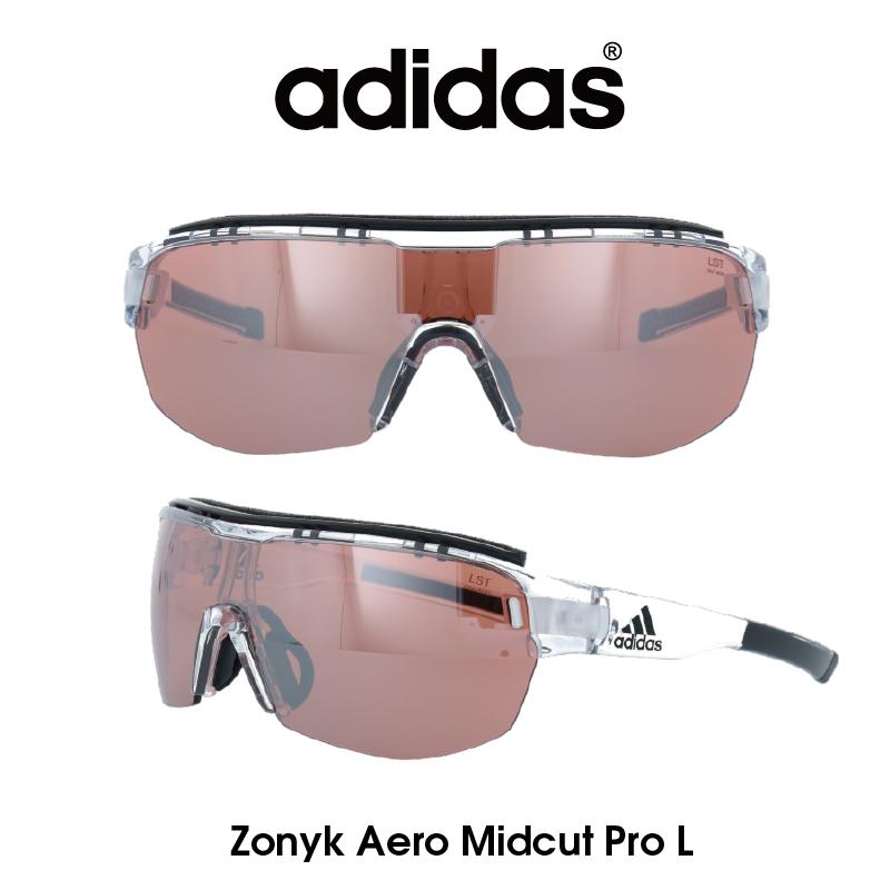 Adidas (アディダス) サングラス Zonyk Aero Midcut Pro L ゾニック エアロ ミッドカット プロ AD11-75-1000-L LSTアクティブS レンズ 人気モデル UVカット アウトドア ドライブ スポーツ