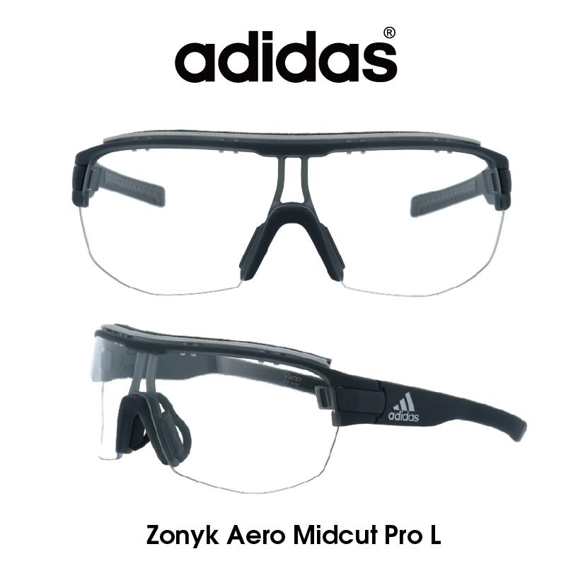 Adidas (アディダス) サングラス Zonyk Aero Midcut Pro L ゾニック エアロ ミッドカット プロ AD11-75-6700-L クリア(調光レンズ) レンズ 人気モデル UVカット アウトドア ドライブ スポーツ