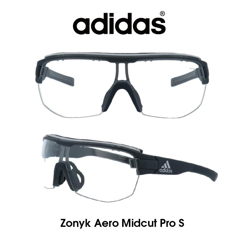 Adidas (アディダス) サングラス Zonyk Aero Midcut Pro S ゾニック エアロ ミッドカット プロ AD11-75-6700-S クリア(調光レンズ) レンズ 人気モデル UVカット アウトドア ドライブ スポーツ