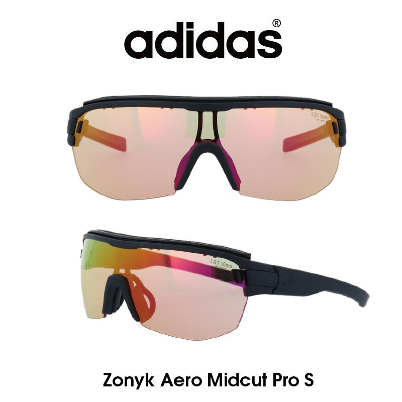 Adidas (アディダス) サングラス Zonyk Aero Midcut Pro S ゾニック エアロ ミッドカット プロ AD11-75-9400-S LSTブライトVARIOパープルミラー(調光レンズ) レンズ 人気モデル UVカット アウトドア ドライブ スポーツ