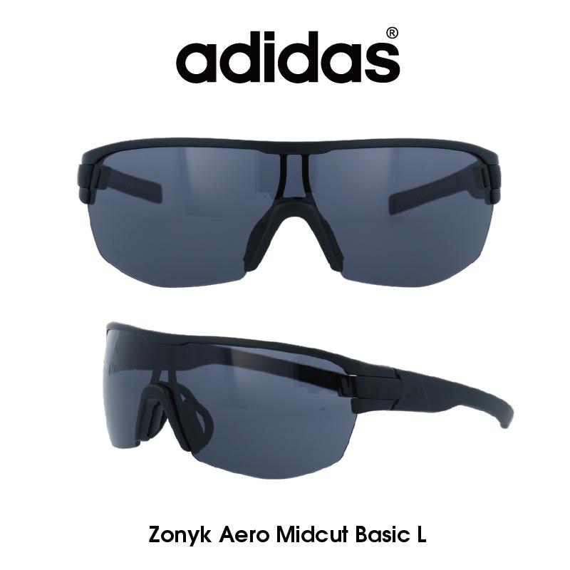 Adidas (アディダス) サングラス Zonyk Aero Midcut Basic L ゾニック エアロ ミッドカット ベーシック AD12-75-9600-L グレー レンズ 人気モデル UVカット アウトドア ドライブ スポーツ