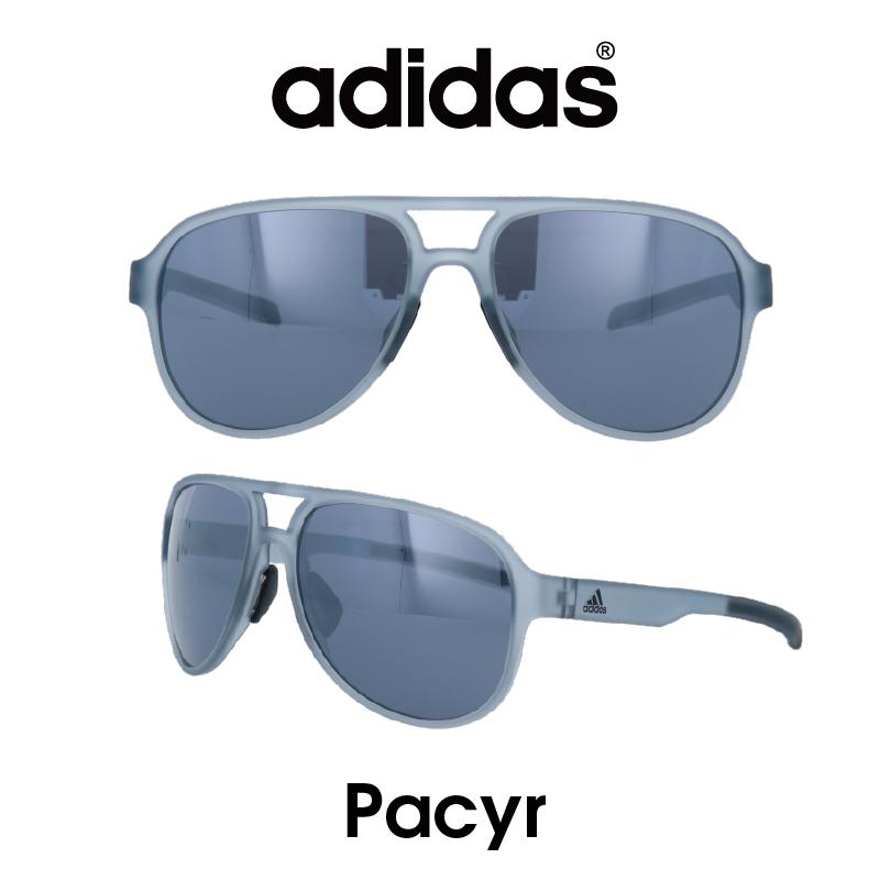 Adidas (アディダス) サングラス Pacyr ぺシール  AD33-75-6500 グレー/クロームミラー レンズ 人気モデル UVカット アウトドア ドライブ スポーツ