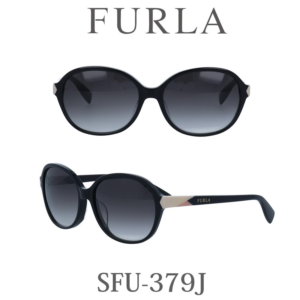 2020年 FURLA(フルラ) サングラス SFU-379J 700 ブラック/グレーグラデーション レディース 人気ブランド UVカット キュート おしゃれ モード