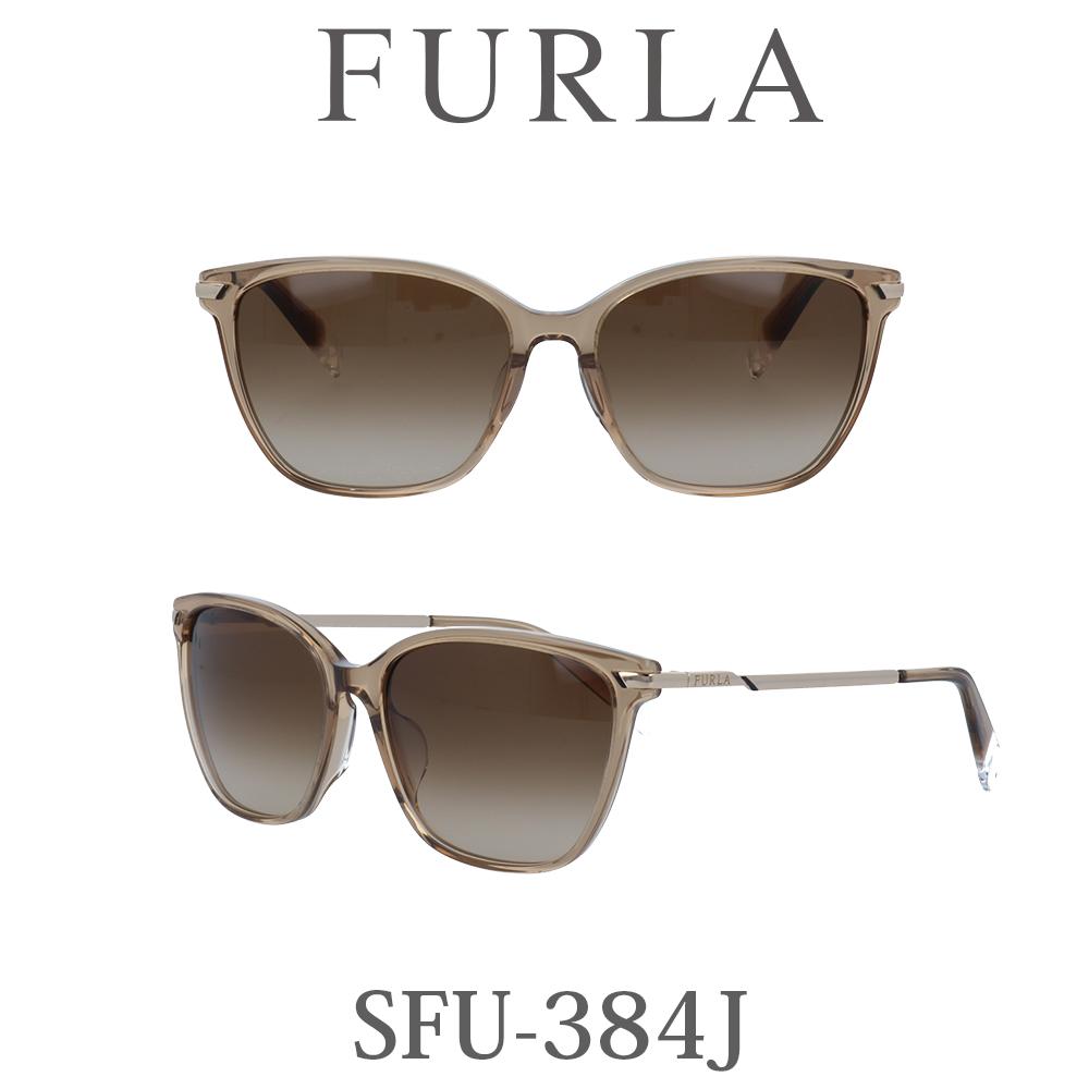 2020年 FURLA(フルラ) サングラス SFU-384J 9DL クリアーブラウン/ブラウングラデーション レディース 人気ブランド UVカット キュート おしゃれ モード