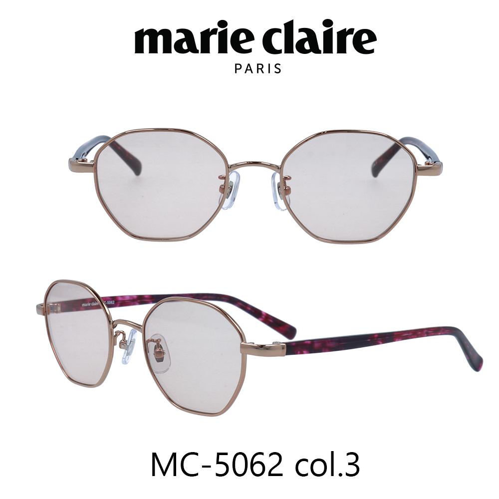 2020年 Marie Claire(マリークレール) サングラス MC-5062 カラー3 ピンクゴールド/パープルササ/ピンク レディース 人気ブランド UVカット キュート おしゃれ モード