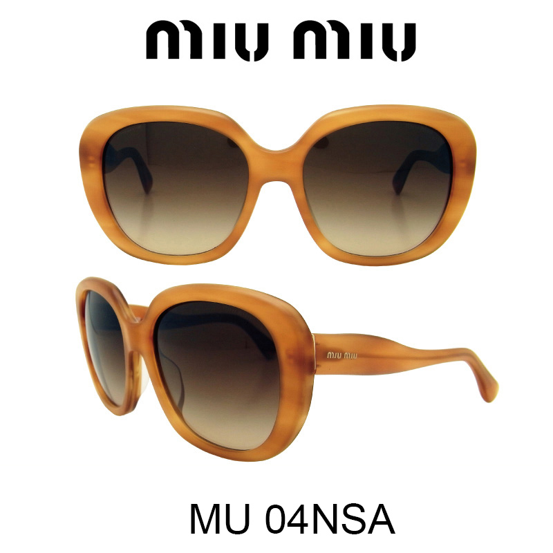MIU MIU(ミュウミュウ) サングラス MU04NSA HAG6S1 人気モデル UVカット おしゃれ かわいいサングラス レディース uvカット