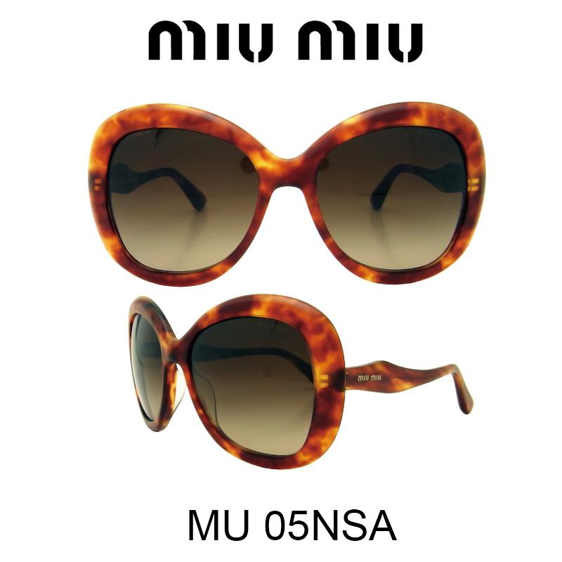 MIU MIU(ミュウミュウ) サングラス MU05NSA HAJ6S1 人気モデル UVカット おしゃれ かわいいサングラス レディース uvカット