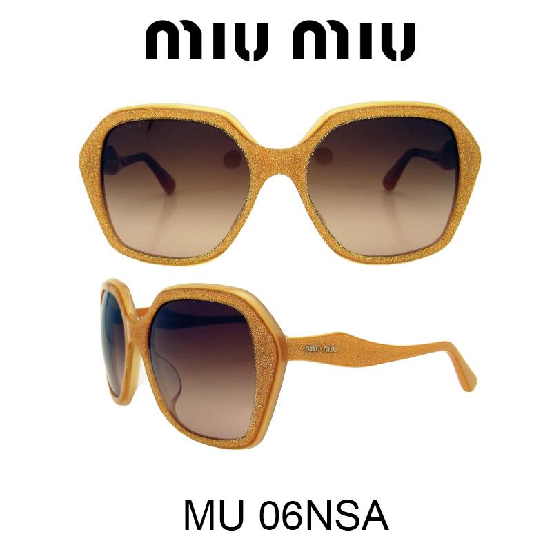 【国内正規品】MIU MIU ミュウミュウ サングラス MU06NSA HAM1Z1 人気モデル UVカット おしゃれ かわいいサングラス レディース uvカット