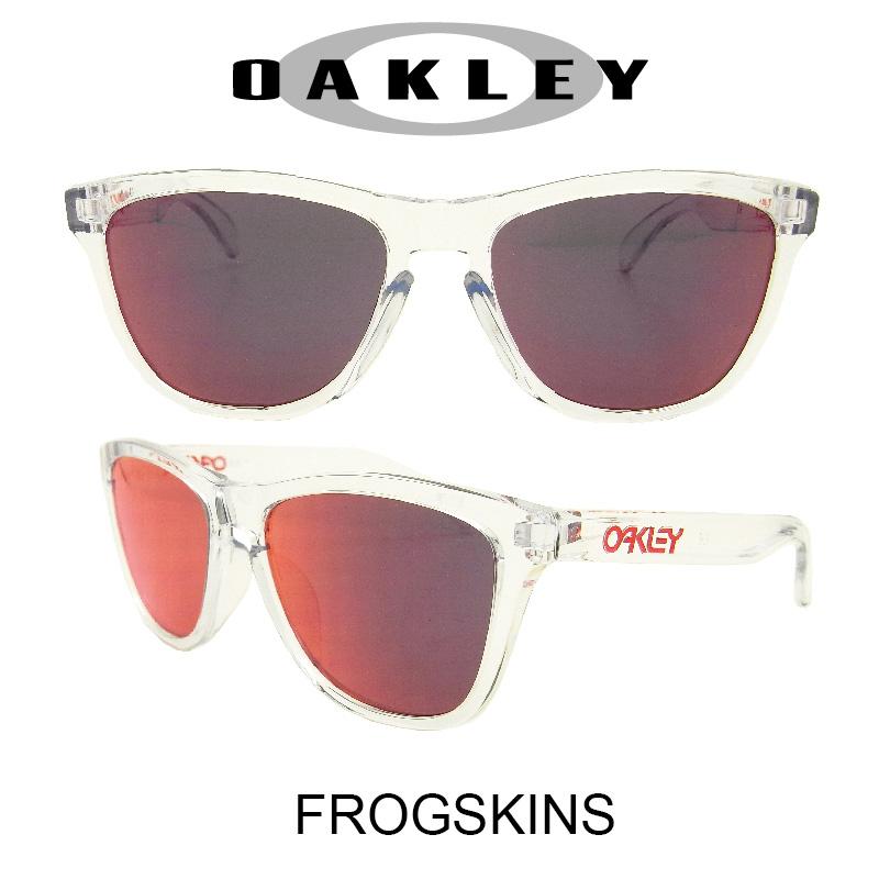 OAKLEY オークリー サングラス (アジアンフィット) フロッグスキン クリスタルクリア/トーチイリジウム 野球 ゴルフ(Sunglasses FROGSKINS 9245-40 Crystal Clear/Torch Iridium)