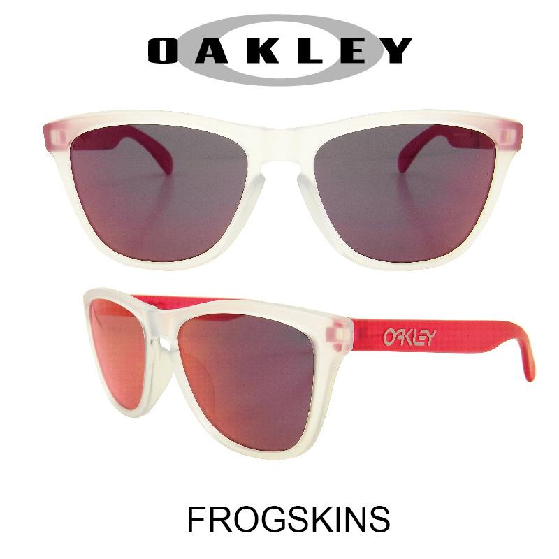OAKLEY オークリー サングラス (アジアンフィット) フロッグスキン マットクリア/トーチイリジウム 野球 ゴルフ(Sunglasses FROGSKINS 9245-5254 Matte Clear/Torch Iridium)
