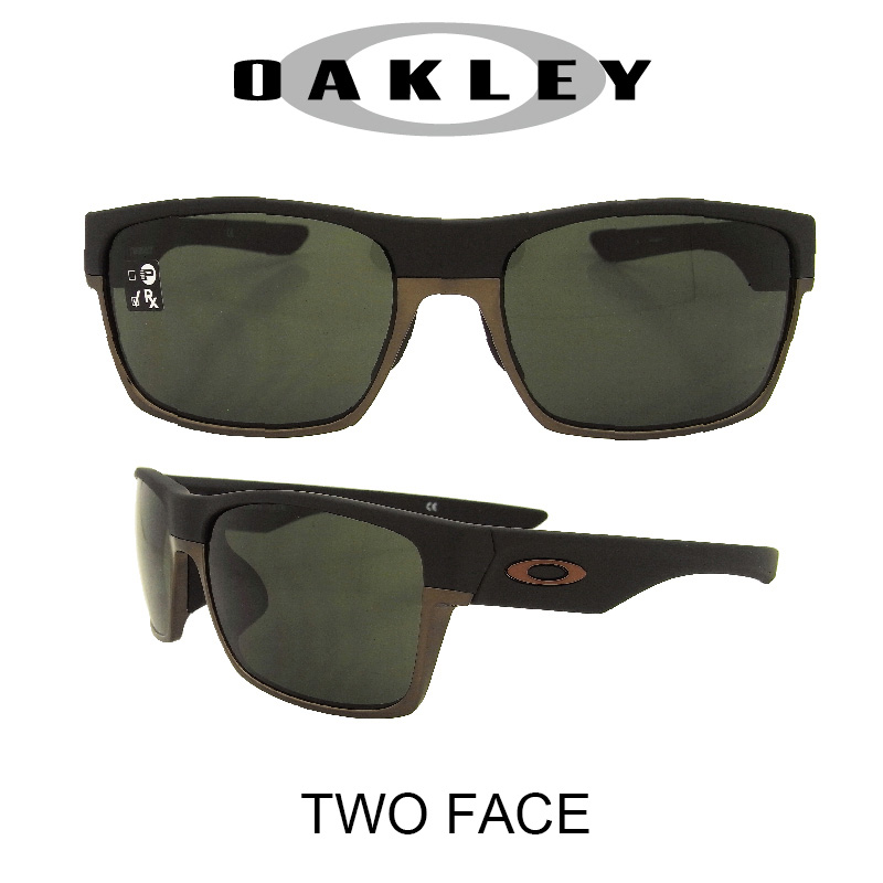 OAKLEY オークリー サングラス (アジアンフィット) 2フェイス マットブラック/ダークグレー 野球 ゴルフ(Sunglasses TWOFACE 9256-01 Matte Black/Dark Gray)