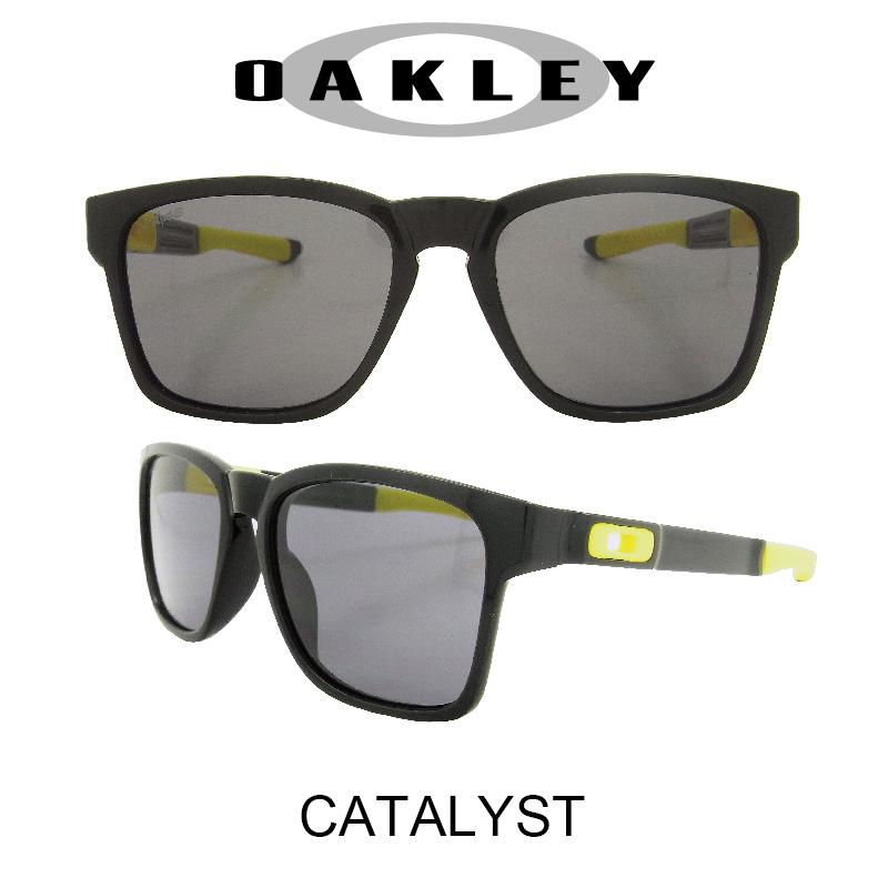 OAKLEY オークリー サングラス カタリスト ポリッシュドブラック/グレー 野球 ゴルフ(Sunglasses CATALYST 9272-17 Polished Black/Gray (Valentino Rossi Collection))