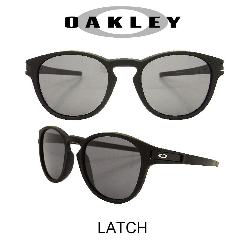 【国内正規品】(アジアンフィット)OAKLEY オークリー サングラス ラッチ マットブラック/グレー 野球 ゴルフ(Sunglasses LATCH 9349-01 Matte Black/Gray)