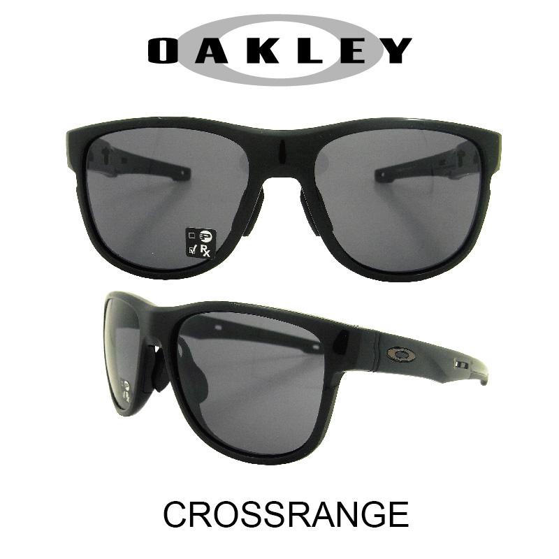 OAKLEY オークリー サングラス (アジアンフィット) クロスレンジR ポリッシュドブラック/グレー 野球 ゴルフ(Sunglasses CROSSRANGE R 9369-0157 Polished Black/Gray)