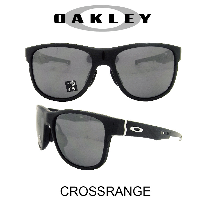 OAKLEY オークリー サングラス (アジアンフィット) クロスレンジR ポリッシュドブラック/ブラックイリジウム 野球 ゴルフ(Sunglasses CROSSRANGE R 9369-0257 Polished Black/Black Iridium)
