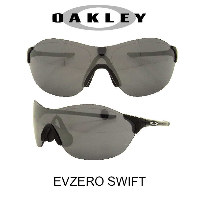 OAKLEY オークリー サングラス (アジアンフィット) EVゼロ スウィフト ポリッシュドブラック/ブラックイリジウム 野球 ゴルフ(Sunglasses EVZERO SWIFT 9410-0138 Polished Black/Black Iridium)