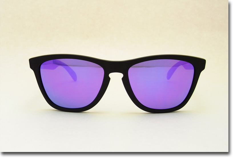 OAKLEY サングラス オークリー 野球 Sunglass FROGSKINS 298 Matte Black/Violet Iridium (オークレー サングラス フロッグスキン マットブラック ヴァイオレッドレンズ)