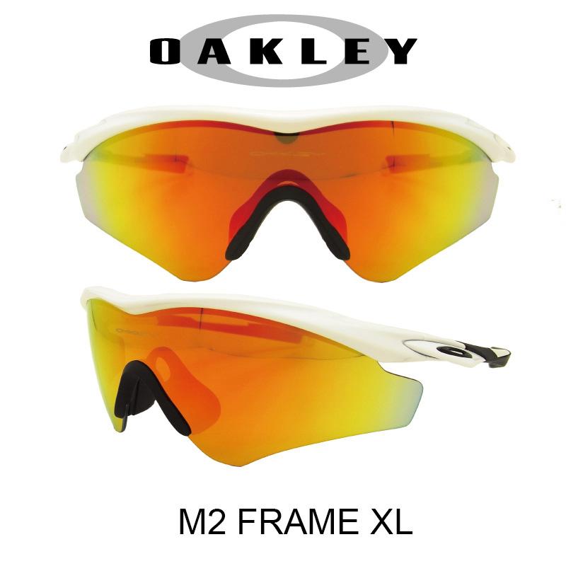 【国内正規品】(アジアンフィット)OAKLEY オークリー サングラス エムツーフレーム エックスエル ポリッシュドホワイト/ファイアイリジウム 野球 ゴルフ(Sunglasses M2 Frame XL 9345-04 Polished White/Fire Iridium)