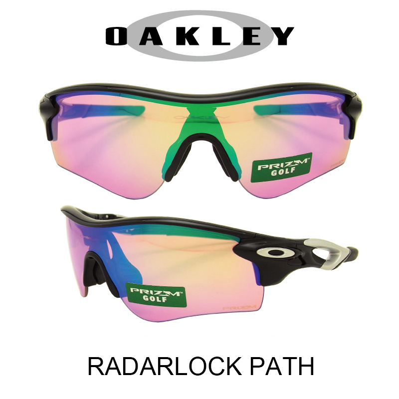 OAKLEY オークリー サングラス (アジアンフィット) レーダーロックパス ポリッシュドブラック/プリズムゴルフ 野球 ゴルフ(Sunglasses RADARLOCK PATH 9206-25 Polished Black/Prizm Golf)