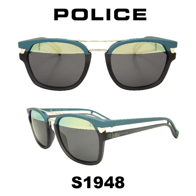 【国内正規品】 POLICE (ポリス) サングラス グローバルモデル S1948 カラー NV8H ミラーレンズ 人気モデル UVカット アウトドア ドライブ スポーツ