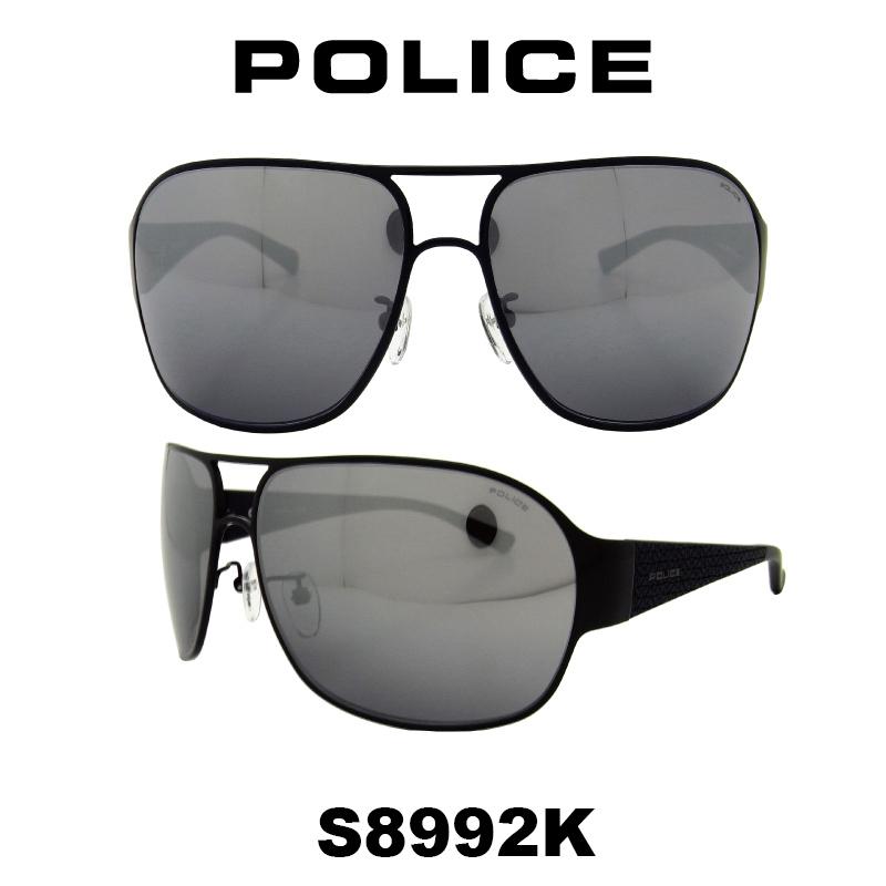 POLICE(ポリス) サングラス グローバル モデル メンズ S8992K 531X 人気モデル UVカット ティアドロップ ドライブ