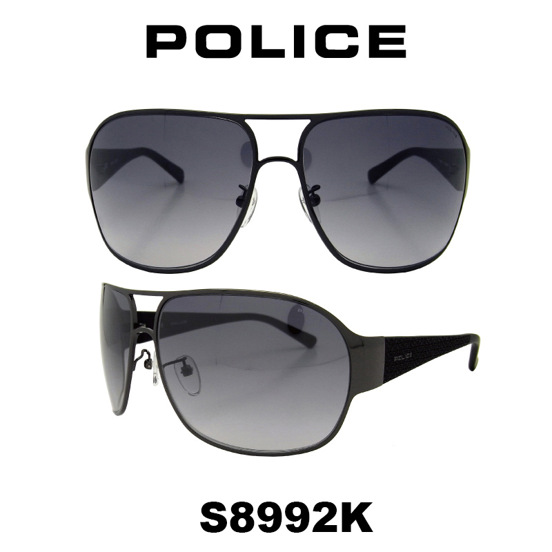 ポリス モデル グローバル S8992K 568X UVカット サングラス ドライブ ティアドロップ POLICE 人気モデル メンズ (ポリス) 【国内正規品】